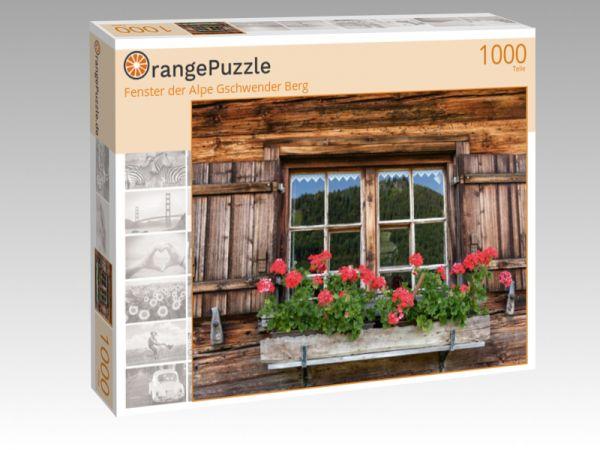 """Puzzle Motiv """"Fenster der Alpe Gschwender Berg"""" - Puzzle-Schachtel zu 1000 Teile Puzzle"""