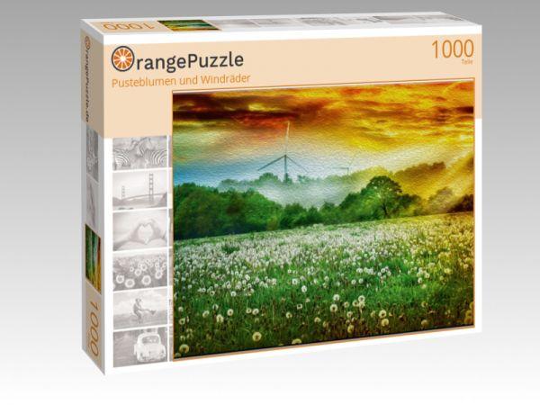 """Puzzle Motiv """"Pusteblumen und Windräder"""" - Puzzle-Schachtel zu 1000 Teile Puzzle"""