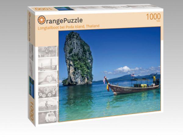 "Puzzle Motiv ""Longtailboot bei Poda Island, Thailand"" - Puzzle-Schachtel zu 1000 Teile Puzzle"