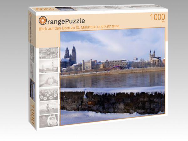 """Puzzle Motiv """"Blick auf den Dom zu St. Mauritius und Katharina"""" - Puzzle-Schachtel zu 1000 Teile Puzzle"""