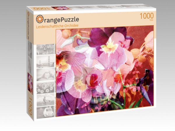 """Puzzle Motiv """"Leidenschaftliche Orchidee"""" - Puzzle-Schachtel zu 1000 Teile Puzzle"""