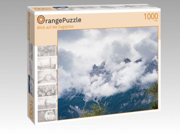 """Puzzle Motiv """"Blick auf die Zugspitze."""" - Puzzle-Schachtel zu 1000 Teile Puzzle"""