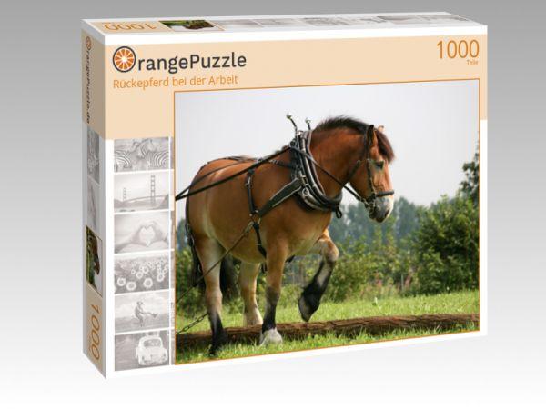 """Puzzle Motiv """"Rückepferd bei der Arbeit"""" - Puzzle-Schachtel zu 1000 Teile Puzzle"""