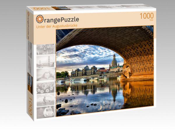 """Puzzle Motiv """"Unter der Augustusbrücke"""" - Puzzle-Schachtel zu 1000 Teile Puzzle"""