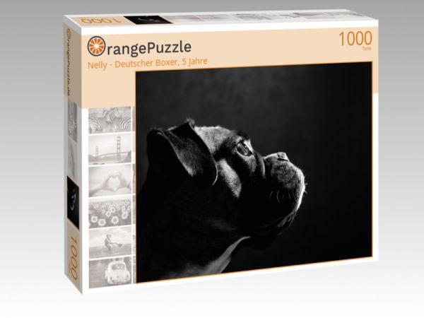 """Puzzle Motiv """"Nelly - Deutscher Boxer, 5 Jahre"""" - Puzzle-Schachtel zu 1000 Teile Puzzle"""