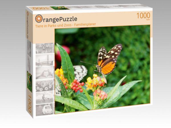 """Puzzle Motiv """"Tiere in Parks und Zoos - Familienplaner"""" - Puzzle-Schachtel zu 1000 Teile Puzzle"""