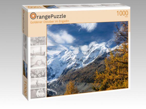 "Puzzle Motiv ""Goldener Oktober im Engadin"" - Puzzle-Schachtel zu 1000 Teile Puzzle"