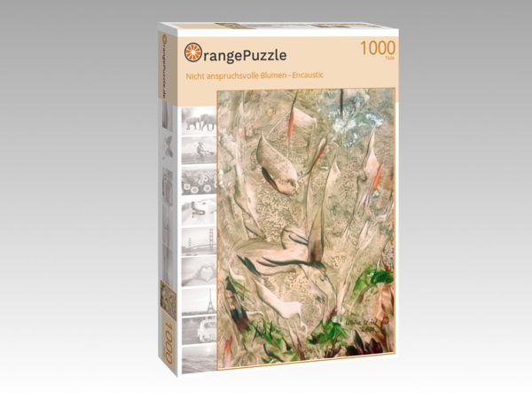"""Puzzle Motiv """"Nicht anspruchsvolle Blumen - Encaustic"""" - Puzzle-Schachtel zu 1000 Teile Puzzle"""