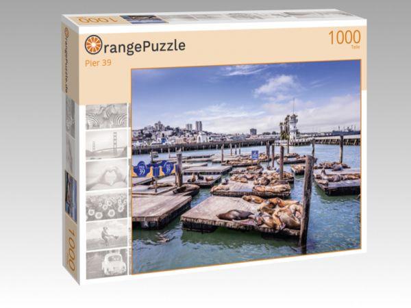 """Puzzle Motiv """"Pier 39"""" - Puzzle-Schachtel zu 1000 Teile Puzzle"""