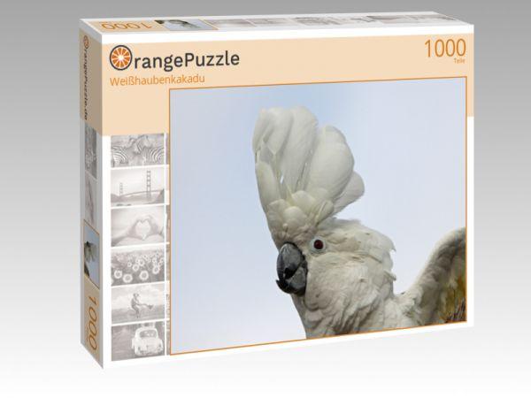 """Puzzle Motiv """"Weißhaubenkakadu"""" - Puzzle-Schachtel zu 1000 Teile Puzzle"""