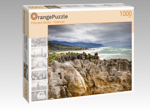 """Puzzle Motiv """"Pancake Rocks - Südinsel"""" - Puzzle-Schachtel zu 1000 Teile Puzzle"""