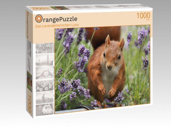 "Puzzle Motiv ""Das Lavendelhörnchen Luna"" - Puzzle-Schachtel zu 1000 Teile Puzzle"