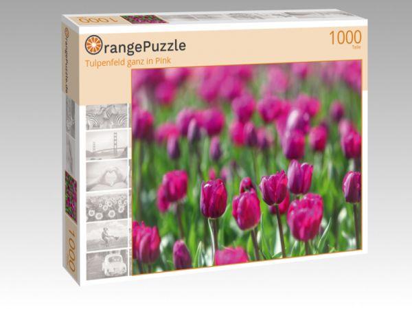 """Puzzle Motiv """"Tulpenfeld ganz in Pink"""" - Puzzle-Schachtel zu 1000 Teile Puzzle"""
