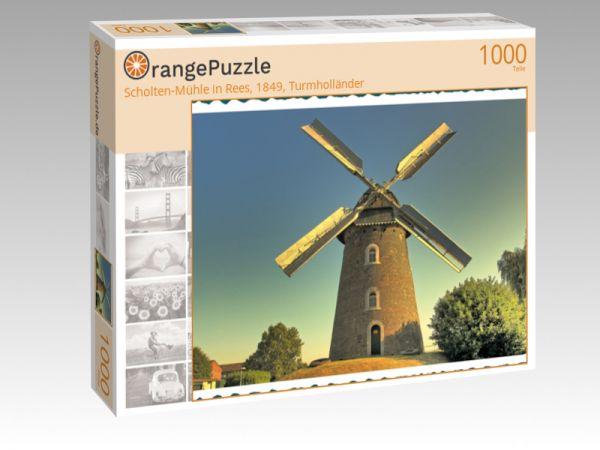 """Puzzle Motiv """"Scholten-Mühle in Rees, 1849, Turmholländer"""" - Puzzle-Schachtel zu 1000 Teile Puzzle"""