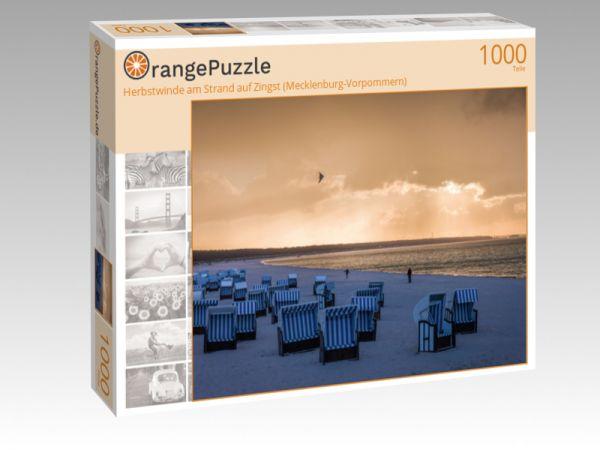 """Puzzle Motiv """"Herbstwinde am Strand auf Zingst (Mecklenburg-Vorpommern)"""" - Puzzle-Schachtel zu 1000 Teile Puzzle"""