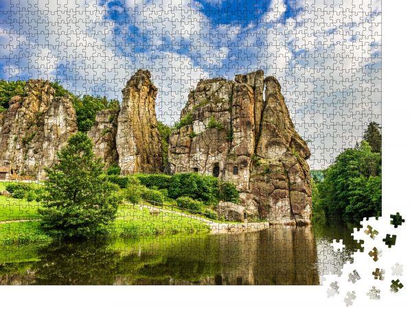 """Puzzle-Motiv """"Externsteine im Teutoburger Wald, Deutschland"""" - Puzzle-Motiv zu 1000 Teile Puzzle"""