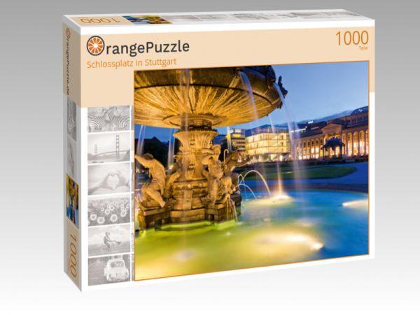 """Puzzle Motiv """"Schlossplatz in Stuttgart"""" - Puzzle-Schachtel zu 1000 Teile Puzzle"""