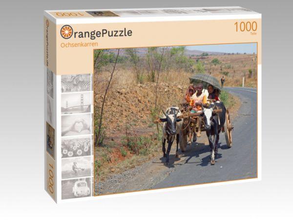 """Puzzle Motiv """"Ochsenkarren"""" - Puzzle-Schachtel zu 1000 Teile Puzzle"""