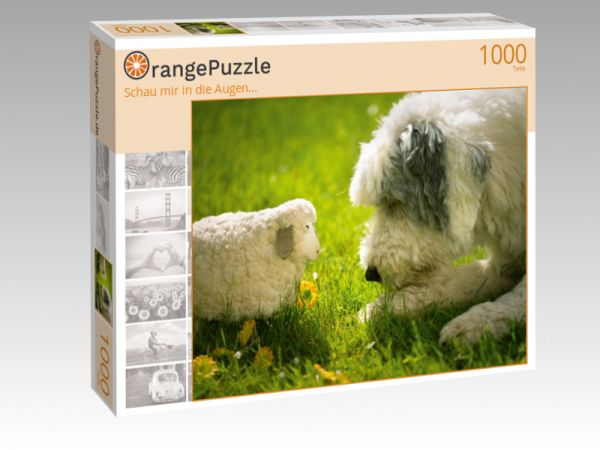 """Puzzle Motiv """"Schau mir in die Augen..."""" - Puzzle-Schachtel zu 1000 Teile Puzzle"""