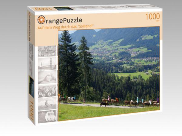 """Puzzle Motiv """"Auf dem Weg durch das """"Sölllandl"""""""" - Puzzle-Schachtel zu 1000 Teile Puzzle"""