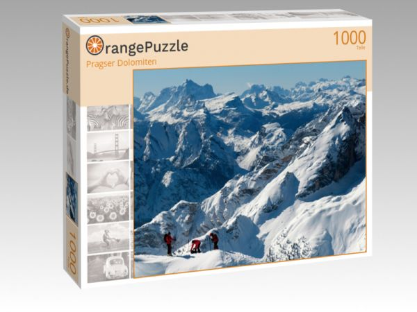 "Puzzle Motiv ""Pragser Dolomiten"" - Puzzle-Schachtel zu 1000 Teile Puzzle"