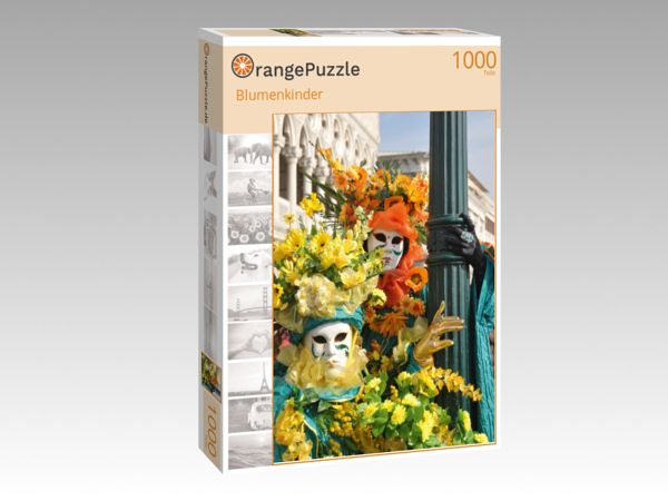 "Puzzle Motiv ""Blumenkinder"" - Puzzle-Schachtel zu 1000 Teile Puzzle"