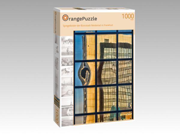 """Puzzle Motiv """"Spiegelbilder der Bürostadt Niederrad in Frankfurt"""" - Puzzle-Schachtel zu 1000 Teile Puzzle"""