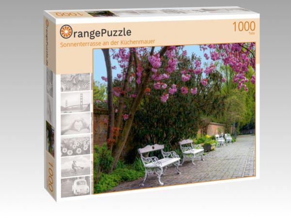"""Puzzle Motiv """"Sonnenterrasse an der Küchenmauer"""" - Puzzle-Schachtel zu 1000 Teile Puzzle"""