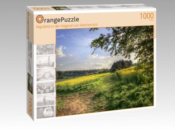 """Puzzle Motiv """"Rapsfeld in der Gegend von Mechernich"""" - Puzzle-Schachtel zu 1000 Teile Puzzle"""