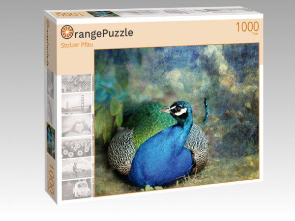 """Puzzle Motiv """"Stolzer Pfau"""" - Puzzle-Schachtel zu 1000 Teile Puzzle"""