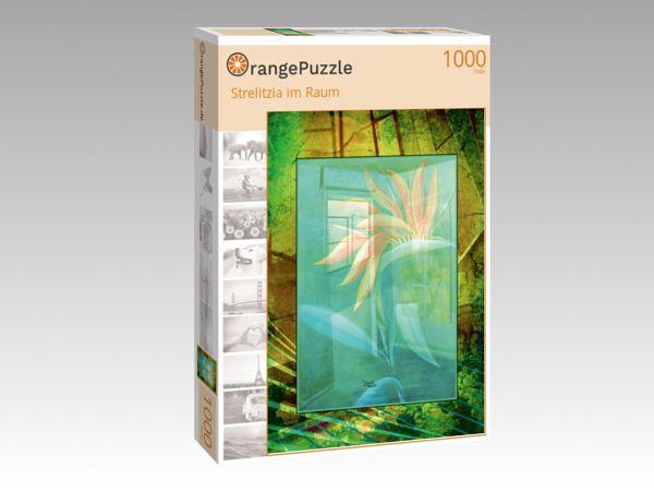 "Puzzle Motiv ""Strelitzia im Raum"" - Puzzle-Schachtel zu 1000 Teile Puzzle"