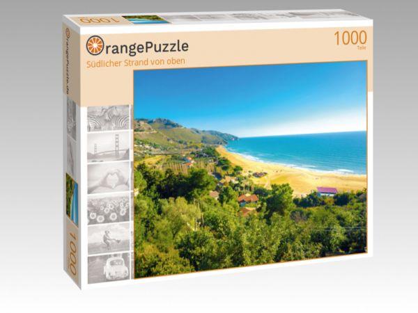 """Puzzle Motiv """"Südlicher Strand von oben"""" - Puzzle-Schachtel zu 1000 Teile Puzzle"""