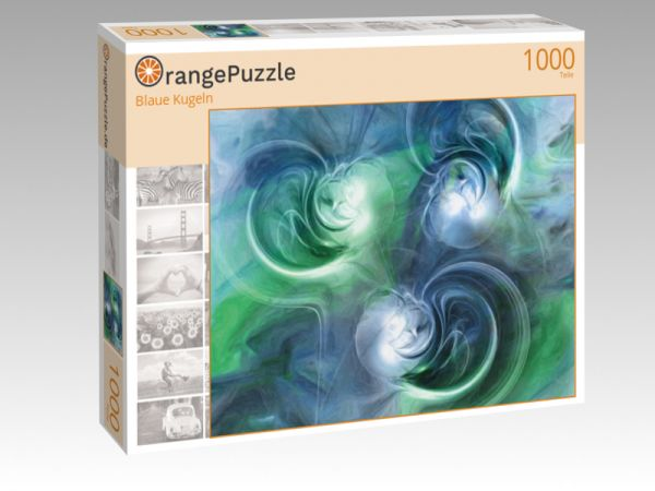 """Puzzle Motiv """"Blaue Kugeln"""" - Puzzle-Schachtel zu 1000 Teile Puzzle"""
