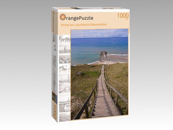 """Puzzle Motiv """"Strand am Leuchtturm Blavandshuk"""" - Puzzle-Schachtel zu 1000 Teile Puzzle"""