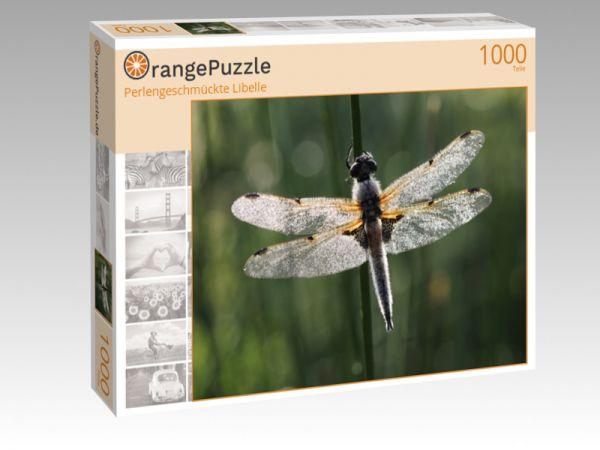 """Puzzle Motiv """"Perlengeschmückte Libelle"""" - Puzzle-Schachtel zu 1000 Teile Puzzle"""