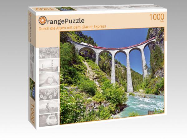 """Puzzle Motiv """"Durch die Alpen mit dem Glacier Express"""" - Puzzle-Schachtel zu 1000 Teile Puzzle"""
