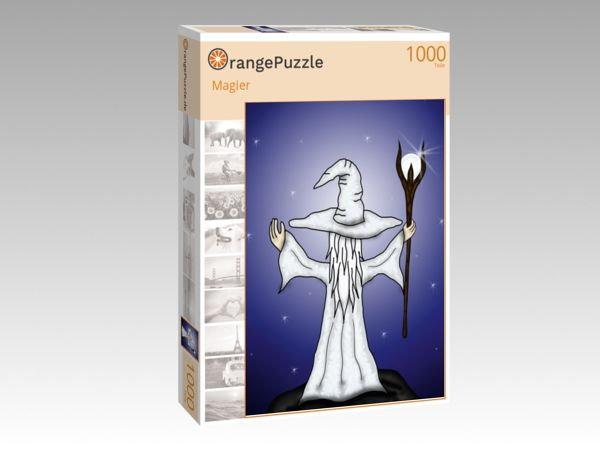 """Puzzle Motiv """"Magier"""" - Puzzle-Schachtel zu 1000 Teile Puzzle"""