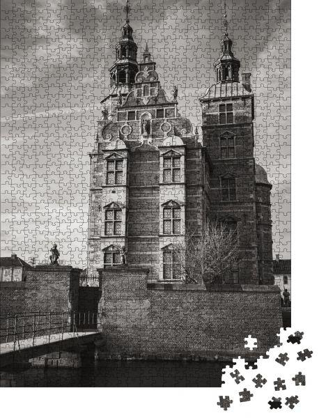 """Puzzle-Motiv """"Eingang und Brücke zum Schloss Rosenborg"""" - Puzzle-Schachtel zu 1000 Teile Puzzle"""