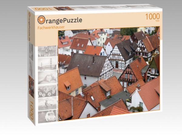 """Puzzle Motiv """"Fachwerkhäuser"""" - Puzzle-Schachtel zu 1000 Teile Puzzle"""