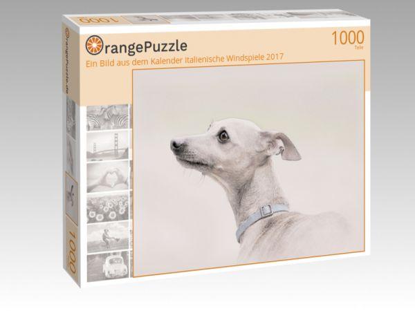 """Puzzle Motiv """"Ein Bild aus dem Kalender Italienische Windspiele 2017"""" - Puzzle-Schachtel zu 1000 Teile Puzzle"""