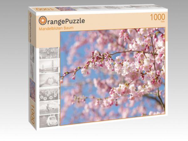 """Puzzle Motiv """"Mandelblüten Baum"""" - Puzzle-Schachtel zu 1000 Teile Puzzle"""