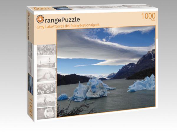 """Puzzle Motiv """"Grey Lake/Torres del Paine-Nationalpark"""" - Puzzle-Schachtel zu 1000 Teile Puzzle"""