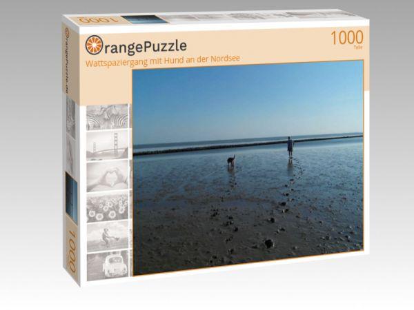 """Puzzle Motiv """"Wattspaziergang mit Hund an der Nordsee"""" - Puzzle-Schachtel zu 1000 Teile Puzzle"""