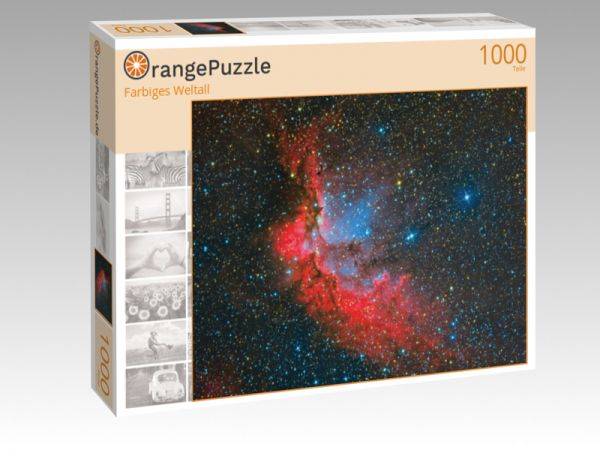 "Puzzle Motiv ""Farbiges Weltall"" - Puzzle-Schachtel zu 1000 Teile Puzzle"