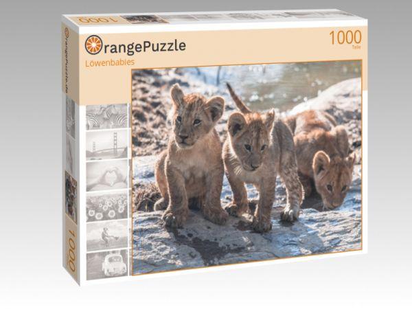 """Puzzle Motiv """"Löwenbabies"""" - Puzzle-Schachtel zu 1000 Teile Puzzle"""