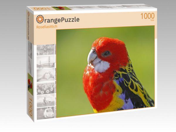 "Puzzle Motiv ""Rosellasittich"" - Puzzle-Schachtel zu 1000 Teile Puzzle"
