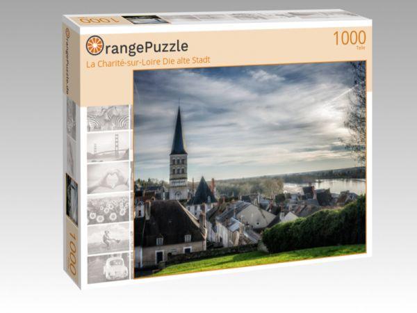 """Puzzle Motiv """"La Charité-sur-Loire Die alte Stadt"""" - Puzzle-Schachtel zu 1000 Teile Puzzle"""