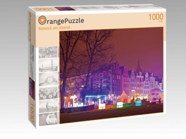 """Puzzle Motiv """"Rostock am Abend"""" - Puzzle-Schachtel zu 1000 Teile Puzzle"""