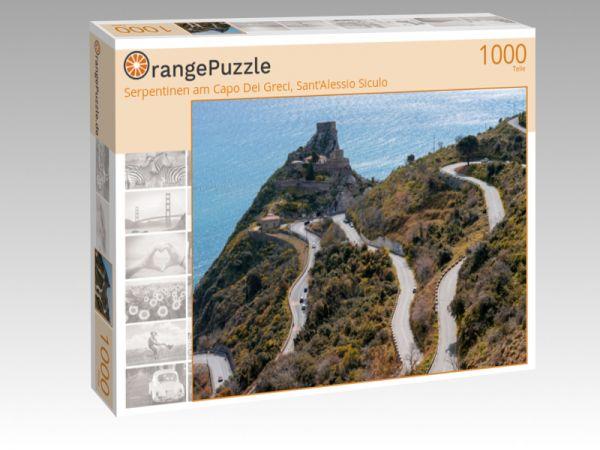 "Puzzle Motiv ""Serpentinen am Capo Dei Greci, Sant'Alessio Siculo"" - Puzzle-Schachtel zu 1000 Teile Puzzle"