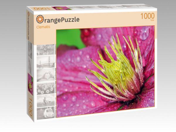 """Puzzle Motiv """"Clematis"""" - Puzzle-Schachtel zu 1000 Teile Puzzle"""
